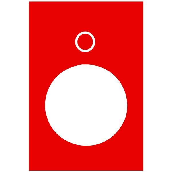 TELEMECANIQUE - Etiket - 30 x 40mm - rood - 0