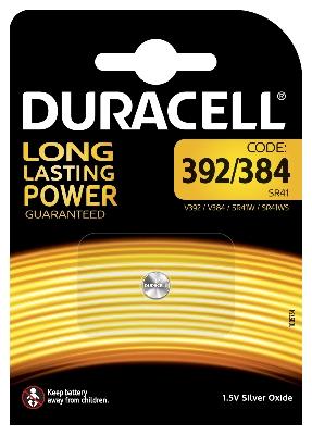 DURACELL - Pile Silver Oxide - 1,5V - 392/384 / D392/384 / V392/384 / SR41 - 1 pc.