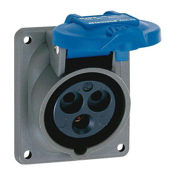 LEGRAND - Socle tableau Hypra plastique IP 44 - BT -200-250V-16A-2P+T