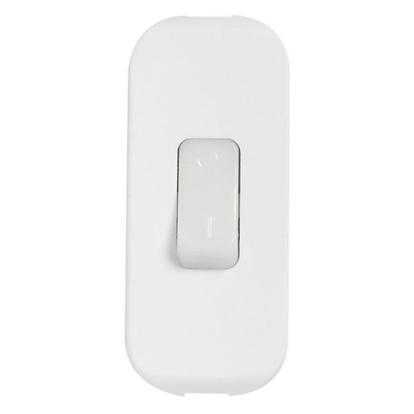 LEGRAND - Wipschakelaar met lichtgevende toets 2A - 250V - 2p - gespikkeld wit