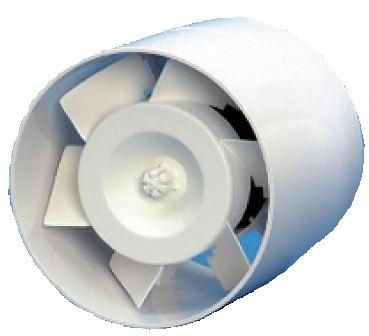 CODUME - Inline kanaalventilator wit 90m³/u - diameter 105mm - regelbare tijdschakeling