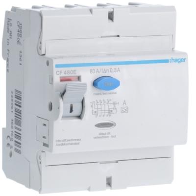 HAGER - Interrupteur différentiel 4P 80A 300mA