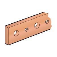 LEGRAND - Koperen staaf 25x5mm -l.1750mm met getapte gaten M6 -320/270A