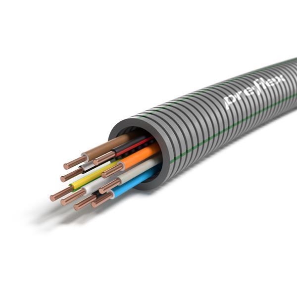 CABLEBEL - Preflex tube précâblé 20mm + VOB 9G1,5mm² rouleau 100m