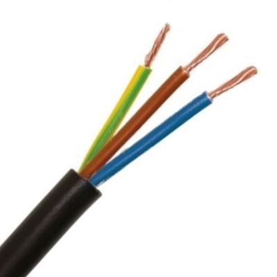 CABLEBEL - H05VV-F VTMB verbindingskabel PVC flexibel gladde mantel 500V zwart 3G1mm²