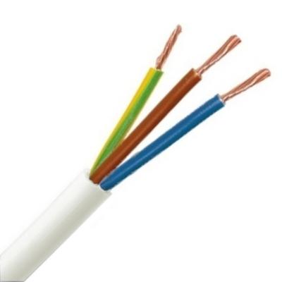 CABLEBEL - H05VV-F VTMB verbindingskabel PVC flexibel gladde mantel 500V wit 3G0,75mm²