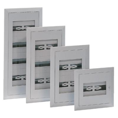 VYNCKIER - Armoire encastré Fix-o-Rail 150-F4 porte transparente 1 rangée 14 modules