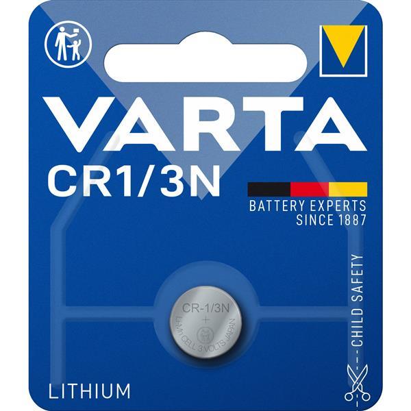 VARTA - ELECTRONICS knopcellen CR1/3N Lithium 3volt 170mAh blister1