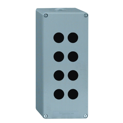 TELEMECANIQUE - lege drukknopkast - XAP-M - metaal - 8 boringen in 2 kolommen