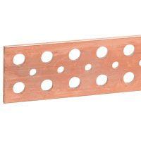 LEGRAND - Koperen staaf 100x5mm-l.1750mm met gladde gaten - 1250/1050A