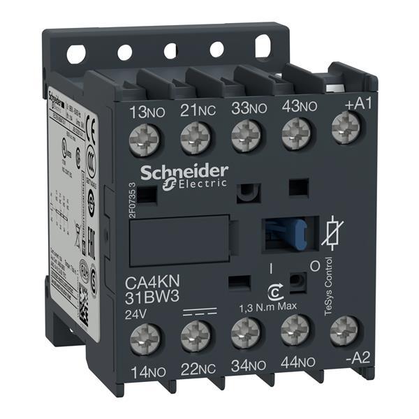 TELEMECANIQUE - Hulpcontactor - 3NO + 1NC - 10A - 24V DC laag verbruik
