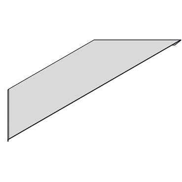 STAGOBEL - Aanzetstukdeksel Sendzimir verzinkt plaatstaal, Breedte: 70 mm