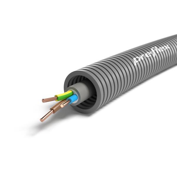 CABLEBEL - Preflex tube précâblé 20mm + XVB 3G2,5mm² rouleau 100m