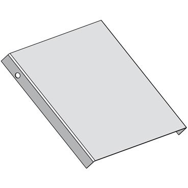 STAGOBEL - Stijgstukdeksel Sendzimir verzinkt plaatstaal, Breedte: 120 mm