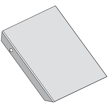 STAGOBEL - Vervalstukdeksel Sendzimir verzinkt plaatstaal, Breedte: 70 mm