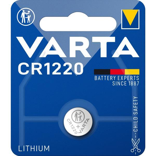 VARTA - ELECTRONICS knopcellen CR1220 Lithium 3volt 35mAh blister1