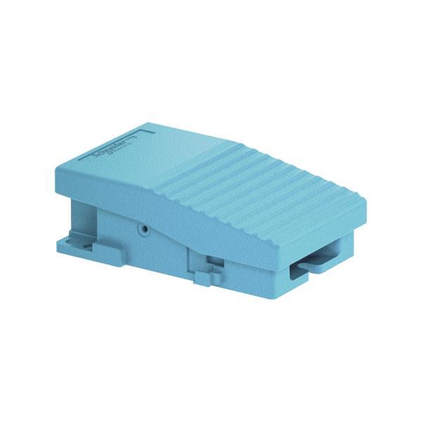 TELEMECANIQUE - Interrupteur à pied simple XPE-M - sans capot - métallique - bleu - 1O+1F