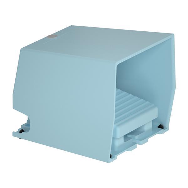 TELEMECANIQUE - Interrupteur à pied simple XPE-M - avec capot - métallique - bleu - 1O+1F