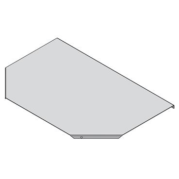 STAGOBEL - Couvercle pour pièce en T Tôle d'acier galvanisée Sendzimir, Largeur: 120 mm