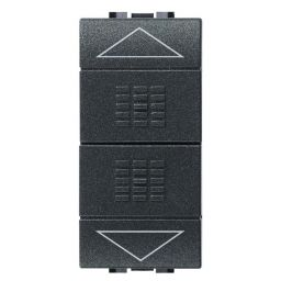 BTICINO - Bouton-poussoir Living - 10A - 250V - 2P - NO + NO - avec blocage mutuel
