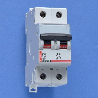 LEGRAND - Automaat Dx - 6kA 2p c02 2 modules Lexic 400 V