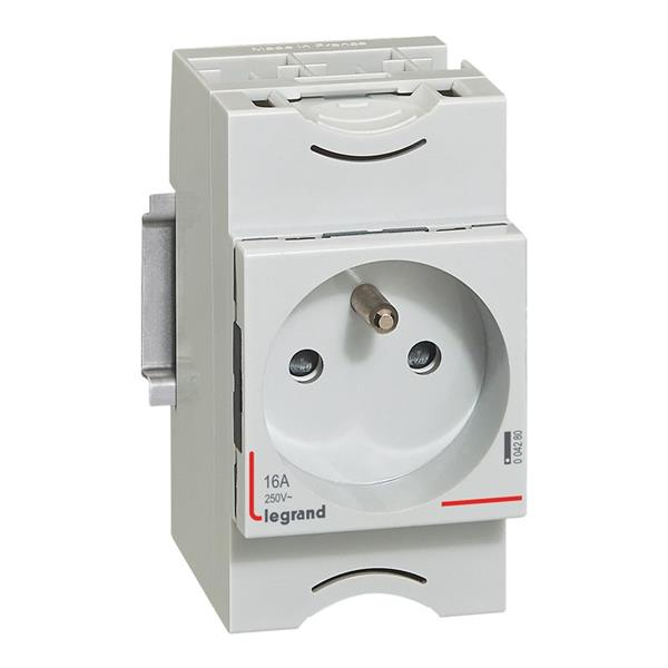 LEGRAND - Prise de courant - 10/16 A 250 V - 2 P + T - 2,5 modules