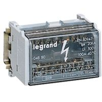 LEGRAND - Repartiteur modulaire 2p 125 A 15 connexions - 18 kA - 8 mod.