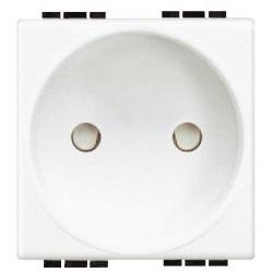 BTICINO - Prise Light - 2P - 10/16A - 250V - contacts protégés - 2 modules - CEBEC