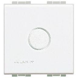 BTICINO - Blinde knop Light - afgerond - 2 mod wit