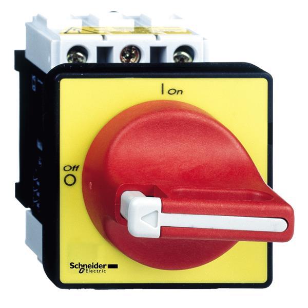 TELEMECANIQUE - Interrupteur-sectionneur VCF - 3P - 690V 25A - poignée rouge cadenassable