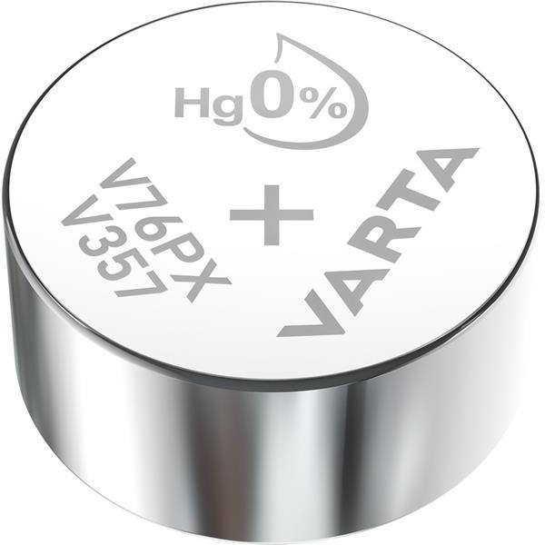 VARTA - Watch piles pour montres SR44 V357 argent 1,55volt 180mAh blister1
