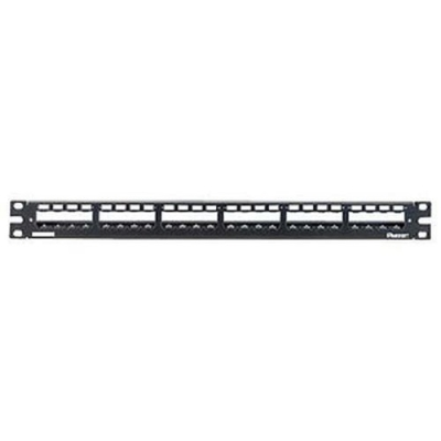 PANDUIT - 24-port all metal modular patch panel with strain relief bar 1U