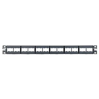 PANDUIT - 24-port plastic modular patch panel empty 1U for UTP modules