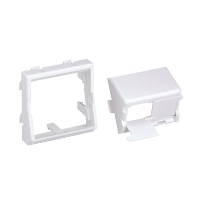 PANDUIT - Mini Com 45x45 module wit 2 posities schuine opstelling met shutter
