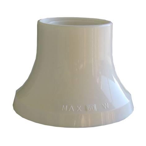 HUPPERTZ - Socket droit E27 blanc PVC