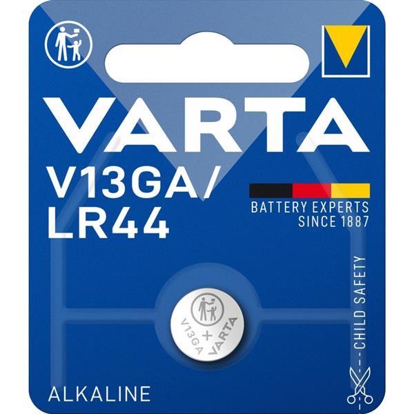 VARTA - ELECTRONICS piles boutons LR44 V13GA Alkaline 1,5volt 125mAh blister1