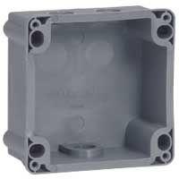 LEGRAND - Opbouwdoos enkel 200/380V Prisinter IP44 - omkeerbaar - 1 ingang - kunststof