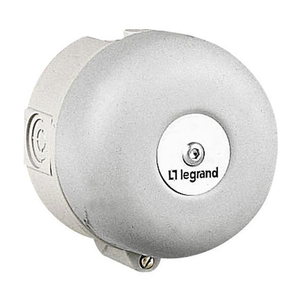 LEGRAND - Bel hoog vermogen, grijs,  diameter 100mm, 90dB