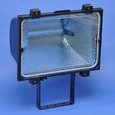 TECHNOLUX - Projecteur halog 750/1000W R7s excl lampe alu moulé noir IP65 verre de sécurité