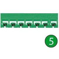 LEGRAND - Mémocab merkteken - cijfer 5 - groen - breedte 2,3 mm