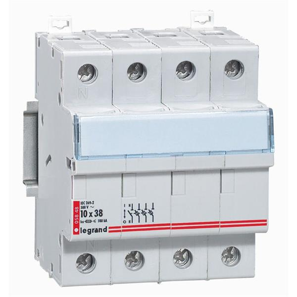 LEGRAND - Coupe-circuit 3p+n - 10x38mm 500V - Lexic - 4 modules