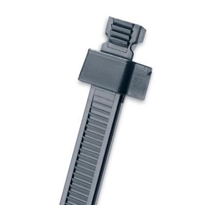 PANDUIT - Cable Tie, 2-Piece, 8.1''L (206mm), Intermediate, Weather Resistant, Black