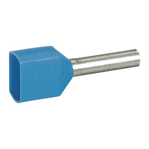 LEGRAND - Embout Starfix sect. 2x0,75mm² double-unitaire-bleu-col.isol.