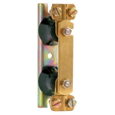 VYNCKIER - Barrette coupure de terre-2 isolateurs-support de fixation métallique