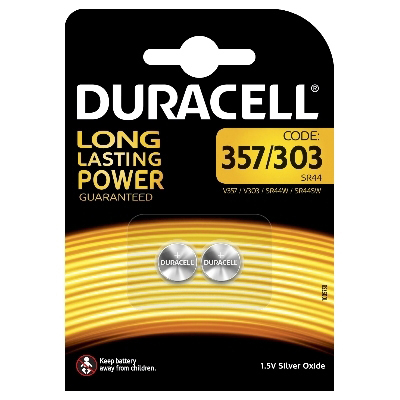 DURACELL - Pile Silver Oxide - 1,5V - 357/303 / D357/D303 V357/V303 / SR44 - 2 pcs.