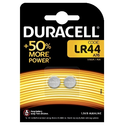 DURACELL - Batterij Alkaline Specialty - 1,5V - LR44 / A76 / V13GA - blister 2 stuks
