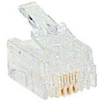 LEGRAND - Fiche RJ 11 pour câble rond 4 contacts - largeur 9,65 mm