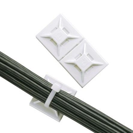 PANDUIT - embase adhésive, blanche, 12.7x12.7mm