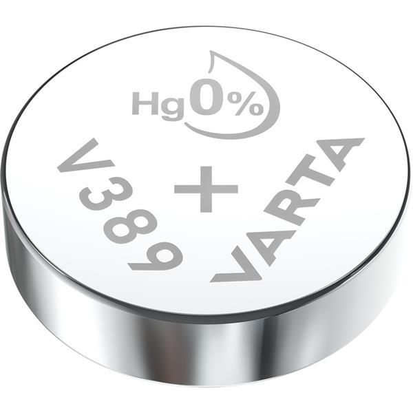 VARTA - Watch piles pour montres SR58 V389 argent 1,55volt 85mAh blister1
