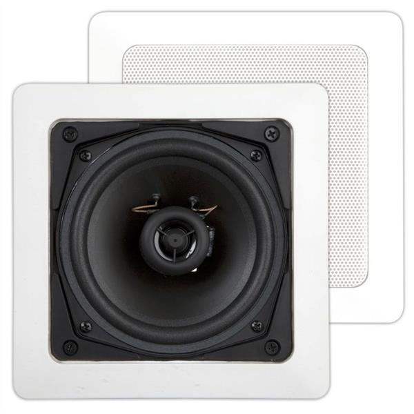 House Of Music - DC101, basic, haut-parleur encastrable 2 voies, carrée, 70W, blanc (2pc)